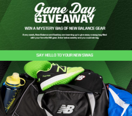 EASTBAY – Win 1 of 29 prizes of a sports bag filled with branded gear by December 31, 2015 – WEEKLY !
