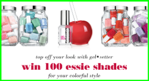 Essie – Win 100 essie shades for your colorful style and more prizes by August 12, 2015 – INSTANTLY!