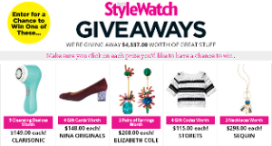 People Magazine – Win 1 of 8 prizes from The September 2015 StyleWatch Giveaways Sweepstakes by September 14, 2015