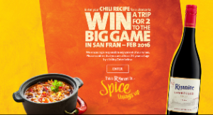 Riunite – Win a $15,000 trip for 2 to the Big Game in San Francisco, CA and more great prizes by October 31, 2015
