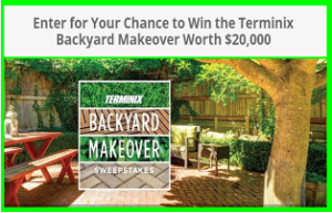 Terminix – Win the Terminix Backyard Makeover Worth $20,000 and more prizes by September 3, 2015