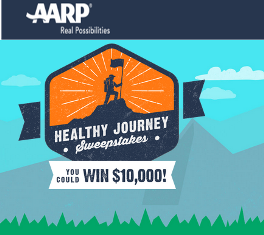 AARP – Win A $10,000 check or A Fitbit Flex Wireless Activity + Sleep Wristband valued at $100 by October 31, 2015 – INSTANTLY !