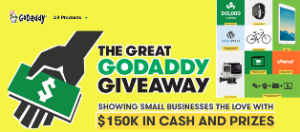 GoDaddy.com  – Win $10,000 cash and more great prizes by October 10, 2015!