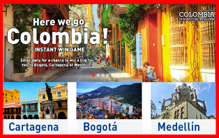 Jetblue – Win a trip for 2 to Bogotá, Medellín or Cartagena by September 4, 2015 – DAILY!