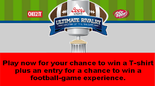 Miller Coors – Win two tickets to attend the college football game valued at $3,500 each plus a T-shirt by October 10, 2015 !