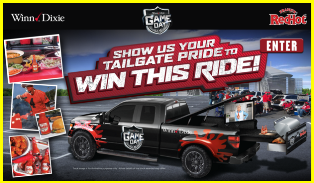 Frank's – Win a used 2015 2-Door Pickup Truck and barbecue grill, refrigerator, television and sound system valued at $30,000 by November 10, 2015