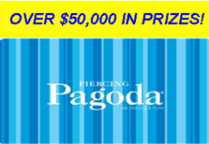 Zale Delaware – Win a $1,000 Piercing Pagoda digital gift card and more prizes by November 22, 2015 – WEEKLY!