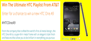AT&T – Win one  HTC One A9 device by November 28th, 2015