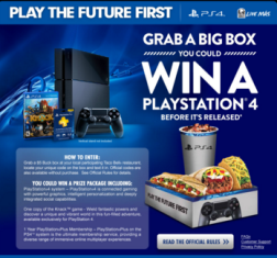 Taco Bell – Win 1 of 6,048 prizes of a  Limited Edition Gold PS  Bundle by November 4, 2015 – INSTANTLY!