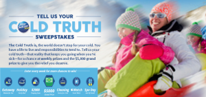 Bayer – Win 5,000 cash and more weekly prizes by January 24, 2016 – Weekly !