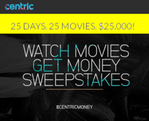 Black Entertainment Television – Win 1 of 25 prizes of $1,000 from The Watch Movies Get Money Sweepstakes by December 26, 2015
