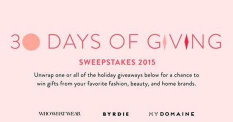 Brilliant Earth & Clique  – Win one $1,000 shopping spree to Brilliant Earth by December 18th, 2015