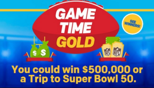 McDonalds – Win $500,00 or a trip for 2 to Super Bowl 50 and more prizes by December 21, 2015 – INSTANTLY!