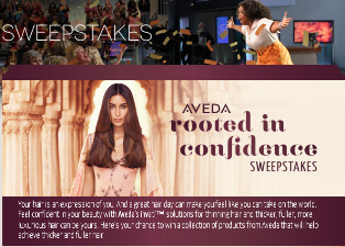 Oprah Magazine – Win a collection of products from Aveda that will help achieve thicker and fuller hair valued at $1,038 by December 31, 2015 !