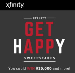 XFINITY – Win a $25,000 check and more daily prizes by January 4, 2016 – DAILY!