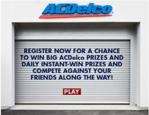 2016 ACDELCO Garage – Win 1 of 6 Smart Watches OR 1 of 146 Weekly Instant Win prizes