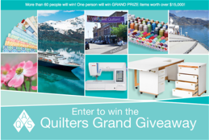 American Quilters Society – Win a Cruise for 2 on the 2017 Alaska Quilt Seminar at Sea valued at $15,984 ARV, a trip to AQS QuiltWeek-Paducah, Kentucky 2016 PLUS many more other prizes