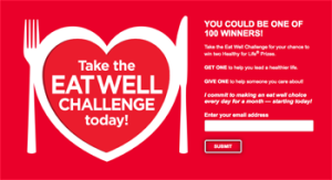 Aramark – The Eat Well Challenge – Win 1 of 100 prizes of either a Personal High Powered Juicer OR Fitness Tracker OR Gourmet Cookware Set valued at $150 ARV each