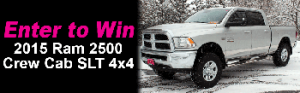 Dave Smith Motors – Win a 2015 Ram 2500 SLT Crew Cab 4×4 V8 HEMI VVT Engine PLUS accessories valued at up to $50,590 MSRP