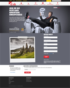 Dish – Join or Die Scotland Adventure – Win a 4-day trip for 2 to Scotland valued at $4,999 ARV