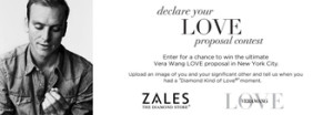 Zales – Win an engagement ring of your choice from the Vera Wang Love collection valued up to $12,229 ARV, a Vera Wang White wedding dress, a trip New York and more