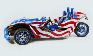 Allstate – Slingshot Motorcycle – Win a grand prize of a 2016 Polaris Slingshot customized and painted by Rick Fairless valued at $35,000 ARV
