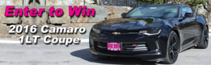 Dave Smith Motors – 2016 Chevy Camaro – Win a 2016 Chevrolet Camaro 1 LT Coupe plus accessories valued up to $35,365