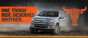Ford Motor Company – 2016 Built Ford Tough Behind The Ride – Win a grand prize of a trip for 2 to attend the 2016 PBR BFT World Finals in Las Vegas and a 2016 Ford F-150 valued at $35,000 ARV