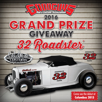 Goodguys – Win a completed Goodguys 1932 Ford Hi-Boy Roadster
