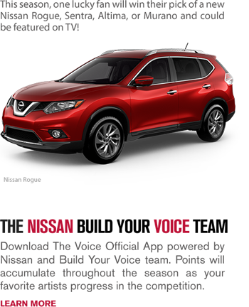 NBC – Nissans Build Your Voice Team – Win a Nissan vehicle valued up to $40,000 ARV