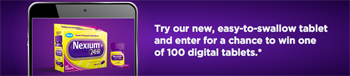 Pfizer – Nexium 24hr Win a tablet – Win 1 of 100 tablets valued at $250 ARV each