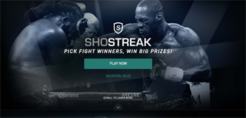 Showtime – Shostreak – Win 1 of 11,041 prize