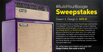 Sweetwater – #BuildYourBoogie – Win your dream amp