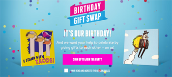 Taco Bell – 54th Birthday Gift Exchange – Win 1 of 1,000 Instant Win prizes
