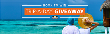 Tripadvisor – Trip-a-day – Win a grand prize of $15,000 to be used toward a trip of your choice OR 1 of 31 second prizes of $1,500 each to be used for hotel & airfare booking on TripAdvisor