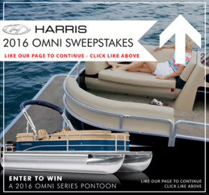 Brunswick – 2016 Harris Omni – Win a 2016 Harris Omni 200 pontoon boat valued at $20,215