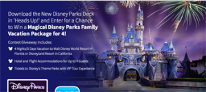 EllenTV – Win a magical theme parks family vacation package for 4 valued at US$8,000 ARV