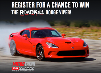Motortrend – Dodge Viper GT – Win a 2015 Challenger Do