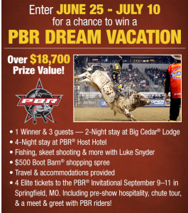 Bass Pro Shops – Win a PBR Dream Vacation over $18,700 prize value