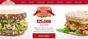 Bimbo Bakeries – Arnold 2016 Americas Better Sandwich – Win a grand prize of $25,000 OR 1 of 5 minor prizes