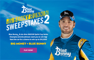 Blue Bunny Ice Cream – Get Your Bunny Runnin 2 – Win a grand prize of $10,000 OR 1 of 21 Instant Win prizes
