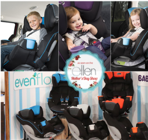 Ellen – Win $10,000 cash and the Evenflo SafeMax All-in-One Car Seat valued at $300