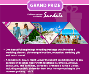 Hallmark Channel – Perfect Proposal – Win a Caribbean Destination Wedding at any Sandals Resort