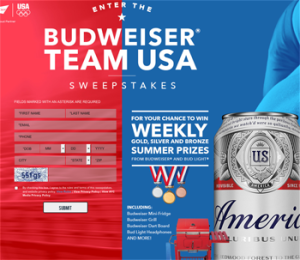 Anheuser-Bush – Budweiser Team USA – Win 1 of 366 prizes