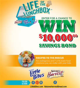 Bimbo Bakeries – Little Bites Snacks & Natures Harvest Bread $10,000 – Win a grand prize of $10,000 OR 1 of 10 minor prizes