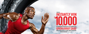 Bridgestone – Olympic Games – Win 1 of 28 $10,000 Visa prepaid cards, 1 of 28 $1,000 Visa prepaid cards and 1,400 other $50 cards