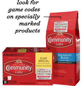 Community Coffee – Tailgate Traditions – Win Instant Win Prizes (Flat Screen TV, Outdoor Grill, Coffee Brewer, Gift Cards)