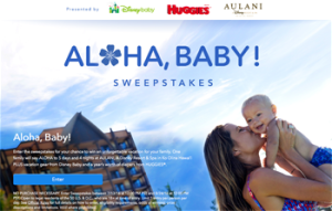 Disney Online – Aloha, Baby – Win a family vacation at AULANI, Disney Resort & Spa in Ko Olina Hawaii plus more valued up to $8,902