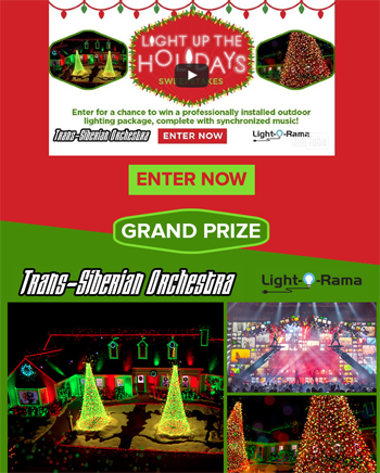 Hallmark channel light up the holidays win a profe for Lighting packages for new homes