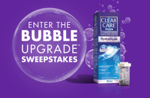 Alcon Laboratories – Clear Care Plus Bubble Upgrade – Win 1 of 4 Upgrade Packages valued at $12,500 ARV each